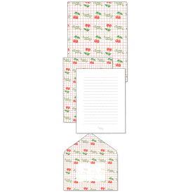 シモジマ レターセット&A5クリアファイル(チェリー) [996099]