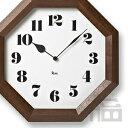 【OFFクーポンあり!】【ポイント最大16倍!】Lemnos WR11-01 レムノス 八角の時計 掛時計/掛け時計/かけ時計/壁掛け/北欧/おしゃれ/デザイン...
