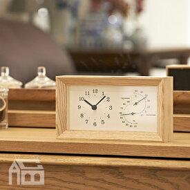 Lemnos FRAME 温湿度計付置き時計 LC13-14 置時計/置き時計/おき時計/デザイン時計/熱中症対策/温度計/湿度計/北欧/インテリア時計