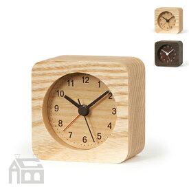 Lemnos rest(角型) alarm clock レムノス レスト アラームクロック LA13-13 置き時計/アラーム時計/目覚まし時計/北欧/おしゃれ/デザイン時計/インテリア時計
