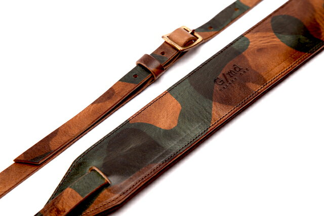 Maison Def G/md Camo Leather strap 15mm (for guitar & bass) ギター/ベース/ストラップ/レザー