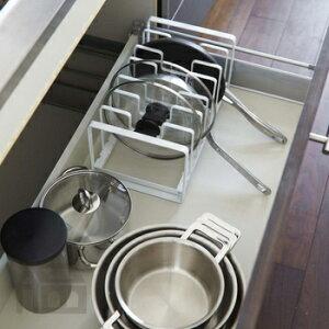 Yamazaki Tower シンク下 フライパン&鍋蓋スタンド タワー キッチン/収納/調理器具