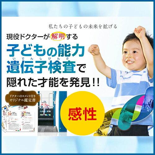 [マラソン20%OFF][送料無料] お家でできる!子どもの能力遺伝子検査キット 感性・メンタルコース (1人用) 安心の国内検査機関 遺伝子解析 こども 子供 ジュニア キッズ