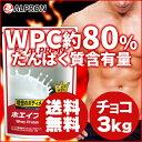 【100個限定!30%OFF】【送料無料】アルプロン WPCホエイプロテイン チョコレート【3kg 約150食分】