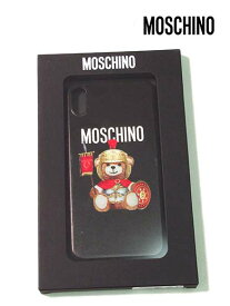 【セール】【上代¥10,000の30%OFF】【ネコポス】【正規取扱い】【あす楽】MOSCHINO【モスキーノ】iPhone Xs Max用対応 アイフォン BEAR 騎士くま スマホ ケース カバー スマートフォンケース アクセサリー ポリカーボネード素材/ブラック【サイズ00】