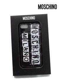 【セール】【上代¥12,000の70%OFF】【ネコポス】【正規取扱い】【あす楽】MOSCHINO【モスキーノ】iPhone7/8用対応 アイフォン ロゴ安全ピン SAFETY PIN スマホ ケース カバー スマートフォンケース/ブラック