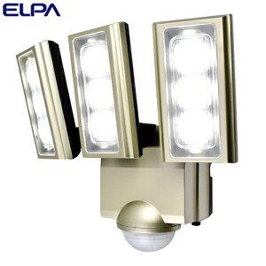【取寄品】ELPA LEDセンサーライト 3灯 コンセント式 (AC電源) 屋外用 ESL-ST1203AC