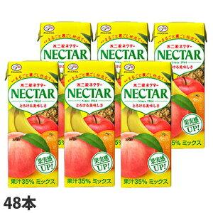 不二家 ネクター ミックス 200ml×48本 ミックスジュース ソフトドリンク 飲料 ドリンク ジュース 果実ジュース ピーチ 桃ジュース
