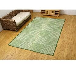 い草花ござカーペット『dkピース』グリーン江戸間8畳(約348×352cm)