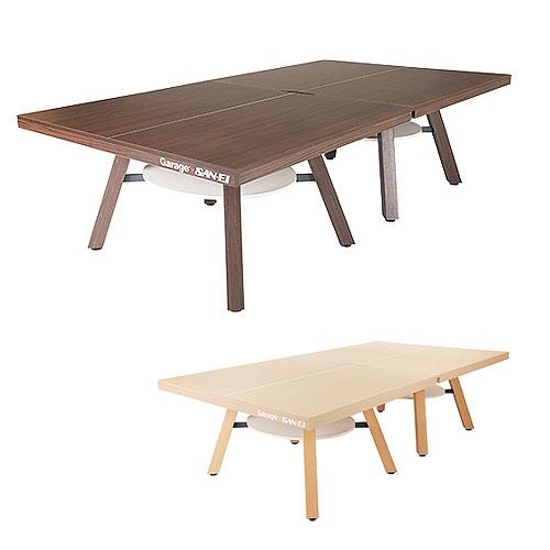 Garage ピンポンワークテーブル PW-1514HN 同色2台セット組(卓球台1台) 幅1525mm×奥行き1370mm×高さ760mm×2台【組立設置付】【代引不可】