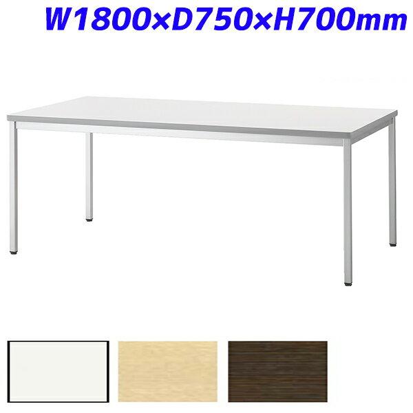 【受注生産品】アイリスチトセ ミーティングテーブル スタンダードオフィステーブル 樹脂エッジ W1800×D750×H700mm CSOT-1875K【代引不可】