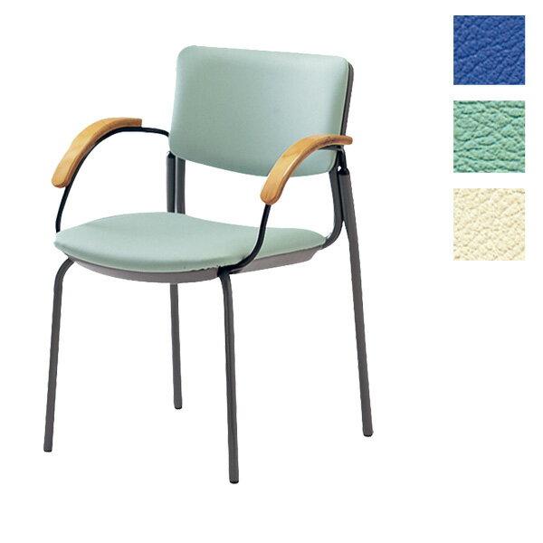 サンケイ ミーティングチェア 会議椅子 4本脚 粉体塗装 肘付 ビニールレザー張り CM351-MX【代引不可】