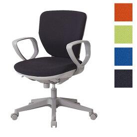 サンケイ オフィスチェア 回転椅子 ガススプリング上下調節 キャスター付 ローバック 肘付 布張り CO251-MYB【代引不可】