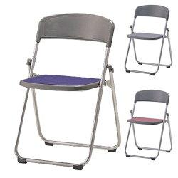 折りたたみ椅子パイプイスアルミ脚粉体塗装座布張りSCF64-MY