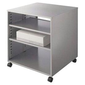 ライオン事務器 CPUワゴン(横型) カロティア W572×D542×H620mm シルバーメタリック CO-CPU1 400-53【代引不可】
