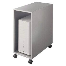 ライオン事務器 CPUワゴン(縦型) カロティア W280×D542×H620mm シルバーメタリック CO-CPU2 400-54【代引不可】