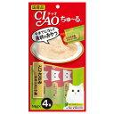 いなば CIAO ちゅ〜る とりささみ チキンスープ味 14g×4本 SC-107