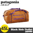 Patagonia パタゴニア 49080 ライトウェイト ブラックホールダッフル 45L スポーティーオレンジ Lightweight Black Hole ...