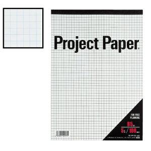 オキナ プロジェクトペーパー A4 5mm方眼 5冊入100枚