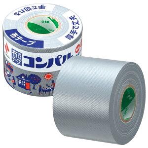 ニチバン 布粘着テープ コンパル50mm×10m 銀 CPN10-50 カラーガムテープ