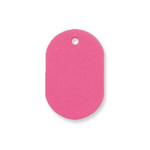 【取寄品】共栄プラスチック プラスチック番号札(無地 番号なし) 大 1箱50枚入 無地 ピンク NO.16C-159046