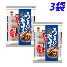 越後 うまい!堅焼き 濃厚うまみ醤油味 96g×3袋