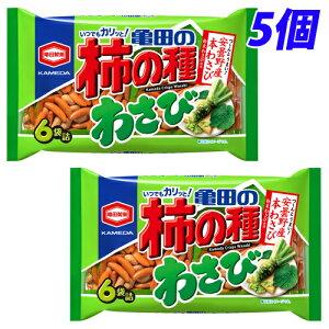亀田製菓 亀田の柿の種 わさび 6袋入×5個