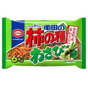 亀田製菓 亀田の柿の種 わさび 6袋入