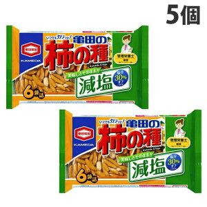 亀田製菓 亀田の柿の種 減塩 6袋入×5個