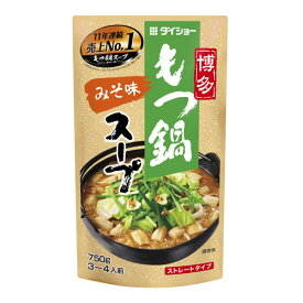 ダイショー 博多もつ鍋スープ みそ味 750g