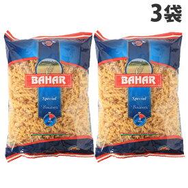 バハール ショートパスタ フジッリ スピラリ 500g×3袋 デュラム小麦100%
