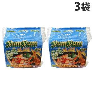 YumYum インスタントヌードル スパイシーシーフード味 5P×3袋