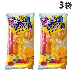 マルゴ食品 チューペット ポッキンフルーツ果汁20% 10本入×3袋