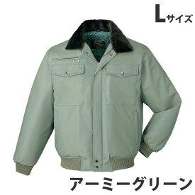 防寒ブルゾン(フード付) L アーミーグリーン 9600 作業服 作業着 ユニホーム つなぎ 自重堂 作業 服 【代引不可】