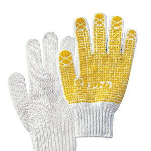 すべり止め手袋 黄色 1双