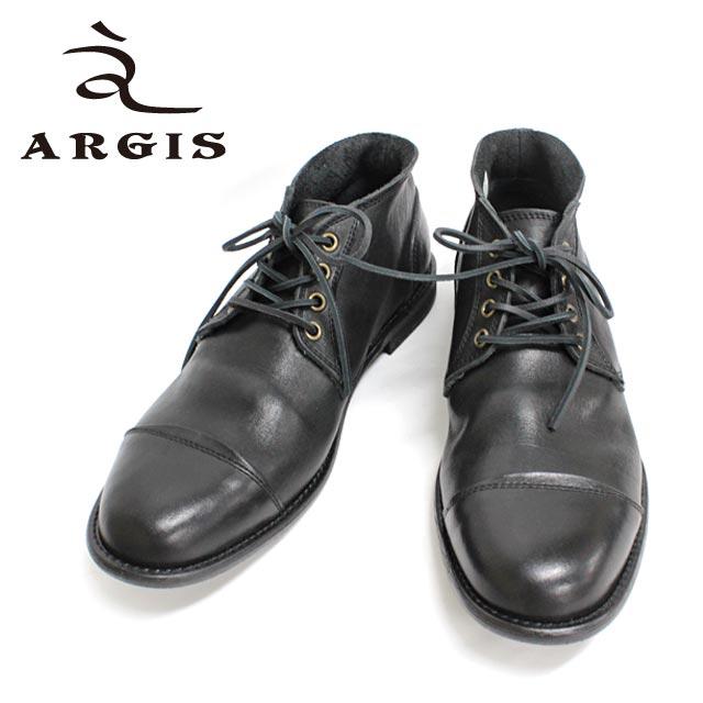 ■■ ARGIS アルジス 12103 チャッカブーツ BLACK革靴 靴 カジュアル メンズ 黒 【店頭受取対応商品】 シューズ 外羽根 ストレートチップ