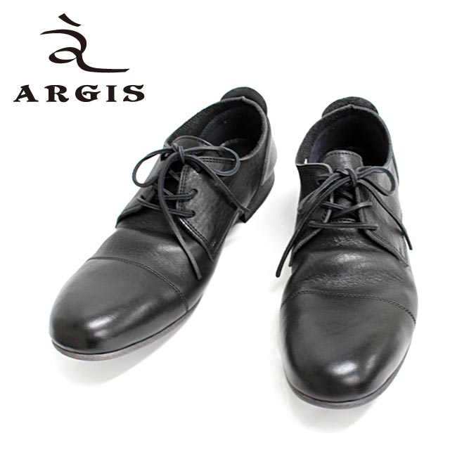 ■■ ARGIS アルジス 91102 (BLACK:黒 )  革靴 カジュアル メンズ 黒 シューズ