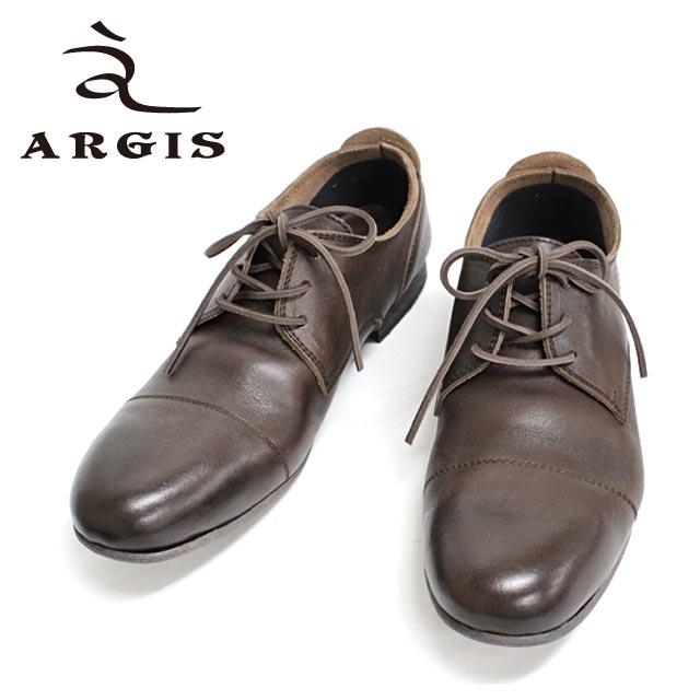 ■■ ARGIS アルジス 91102 (DARK BROWN:ブラウン:茶)  革靴 カジュアル メンズ こげ茶 シューズ