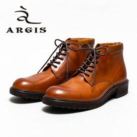 ARGIS アルジス 12216 6アイレット レースアップブーツ メンズ カジュアル BROWN ブラウン タンクソール 本革 革靴 ブーツ レザー セメント製法 合成底 日本製 【店頭受取対応商品】