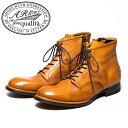 【SALE】ARGIS qualita アルジス クオリタ62323 レザーソール 7アイレット レースアップブーツCAMEL キャメル ブーツ …