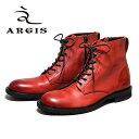 【SALE】ARGIS アルジス82205 7アイレット レースアップ ブーツ メンズ カジュアルWINE ワイン 本革 革靴 ブーツ ジッ…