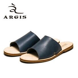 【SALE】ARGIS アルジス 93115 サンダル メンズ 本革 カジュアル NAVY ネイビー レザー リゾート レザーサンダル 日本製 Made in JAPAN 【あす楽】【店頭受取対応商品】