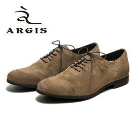 【SALE】ARGIS アルジス NS56115 ビジネスシューズ 革靴 メンズ 日本製 本革 オックスフォード ビジネス カジュアル カップインソール ビジカジ スエード おしゃれ トープ ベージュ セメント製法 ラバーソール 【店頭受取対応商品】