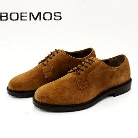 【SALE】BOEMOS ボエモス D4785 ギブソンシューズ メンズ カジュアル 革靴 イタリア製 本革 スエード 外羽根 DATE オレンジブラウン セメント製法 ラバーソール 【店頭受取対応商品】