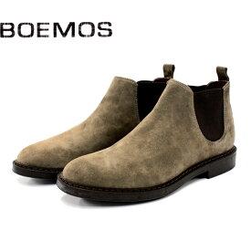 BOEMOS ボエモス 4792 サイドゴアブーツ メンズ カジュアル 革靴 イタリア製 本革 スエード ブーツ ショートブーツ KARIBU ベージュ セメント製法 ラバーソール 【店頭受取対応商品】