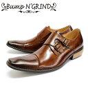 [10bi]Bump N' GRIND バンプアンドグラインド2800 ビジネスシューズ 本革 メンズ ダブルモンクCAMEL キャメル ストレ…