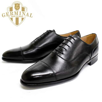 GERMINAL-germinal 8501 (BLACK: black) leather leather shoes men's dress business shoes straight tip black in wing formal wedding = = 10P01Sep13
