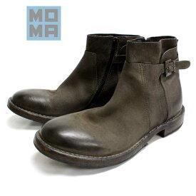 【SALE】MOMA モーマ 63706 ジョッパーブーツ プレーントゥ カジュアル ラウンド グレー 本革 革靴 靴 メンズ 【イタリア製】【店頭受取対応商品】
