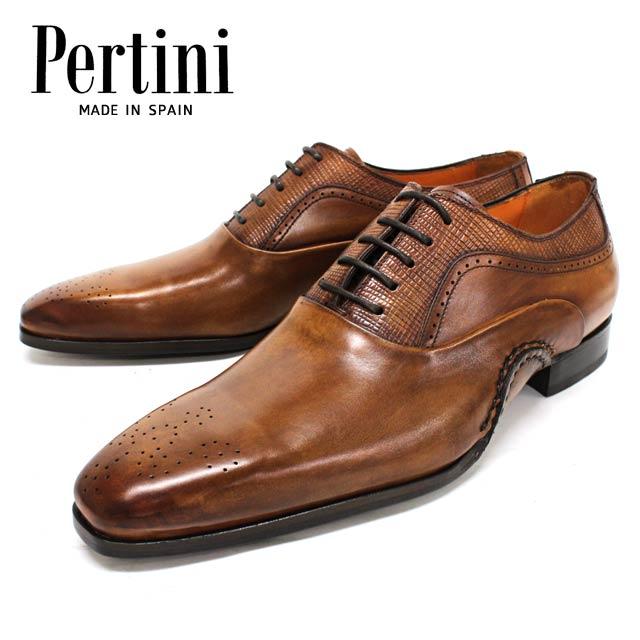 【new】Pertini ペルティニ 23707 TERRA内羽根 メダリオン 革靴 レザーソール メンズ ビジネス【スペイン製】【店頭受取対応商品】