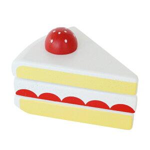 いちごのショートケーキ 女の子 2歳 3歳 4歳 5歳 ままごと ごっこ遊びおもちゃ ままごと道具 食材 木のおもちゃ 木製玩具 幼児 子ども 木製 プレゼント ギフト 誕生日 Ed.Inter(エド・インター)